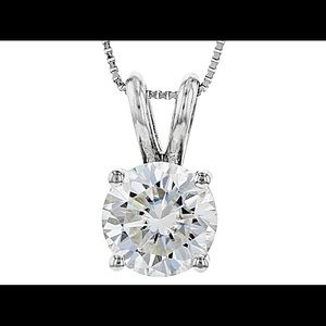 Jewelry - 14k white gold Moissanite solitaire necklace